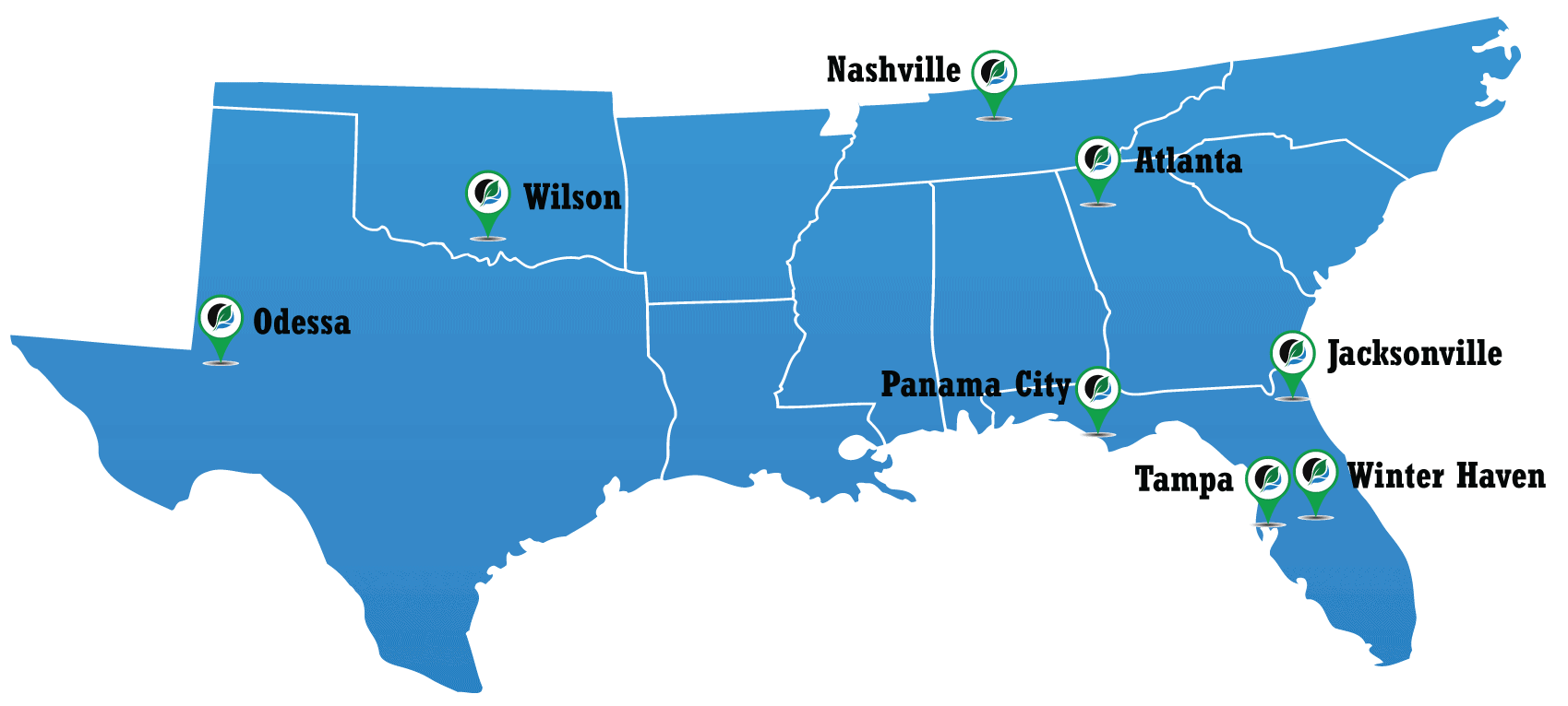 map of Hull's locations